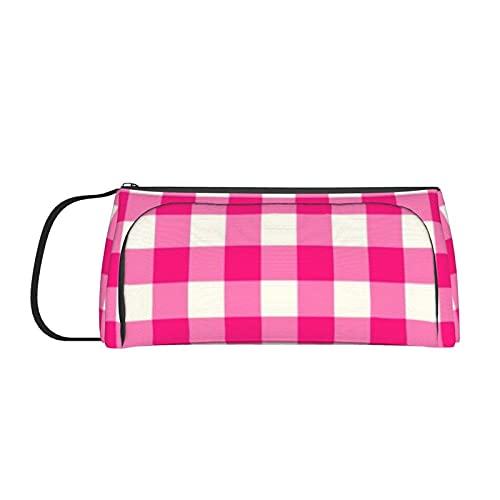 Bolsa de la pluma Capacidad de la pluma Titular de la pluma Bolsa de suministros de la escuela Bolsa de cosméticos Monedero rosa caliente al aire libre patrón