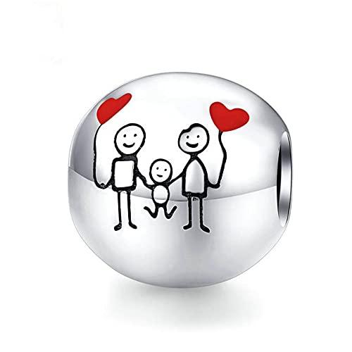Venta caliente niño y niña para siempre traje de cuentas de amor de corazón con cerradura de árbol genealógico, A2,05