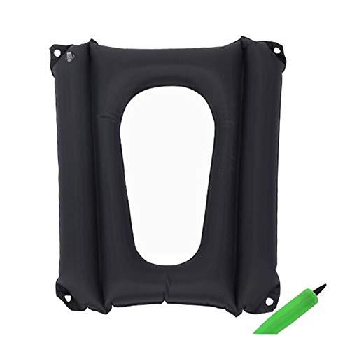 SXFYMWY Anti-Dekubitus aufblasbares Kissen Komfortkabel Vier Ecken können fixiert Toilettensitz-Washer reduziert Hüftvorgang