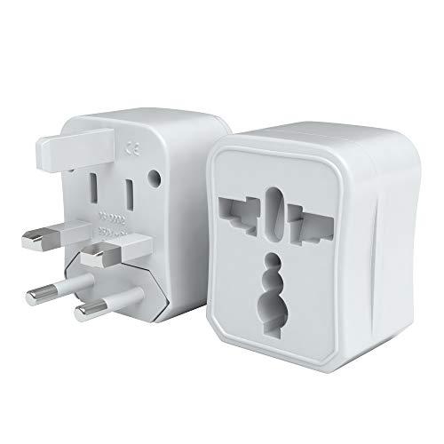 EAZY CASE Universal Reiseadapter 150 Länder weltweit – Stromadapter, Reisestecker für Weltreisen, u.A. für USA, Australien, Asien, Kanada, UK, Afrika, Thailand, Neuseeland, China, Südamerika, Weiß