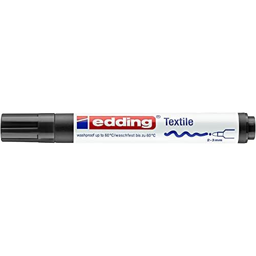 Edding 4500-01 - Marcador para tela, punta cónica, 2-3 mm, color negro