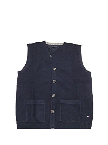 Tommy Hilfiger Rico BTN VestCF 403 Gilet sans manches en laine bleue pour homme - Bleu - M