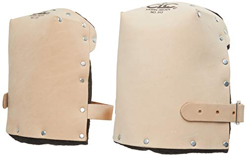 CLC Custom Leathercraft 313 Heavy Duty Leather Kneepads, Double Thick Lining