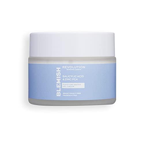 Makeup Revolution Revolution Skincare Salicylic Acid & Zinc PCA Purifying Water Gel Cream, White (1295444)