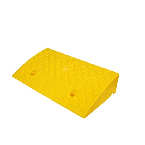 Outdoor Ziekenhuis Barrier-free Ramps, AutoReparatiewerkplaats Auxiliary Ramps Family Car Ramps Convenience Store Plastic Threshold Ramps Curb Ramps (Color : Yellow, Size : 50 * 27 * 11cm)