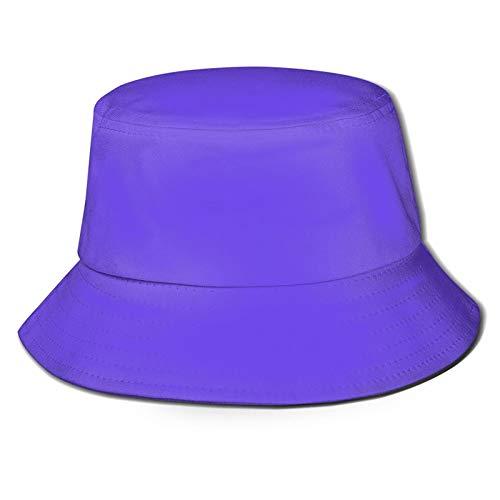 MDZ Pure Purple Solid Bucket Hats Wide Brim Summer Travel Hiking Sports Beach Sun Hat...