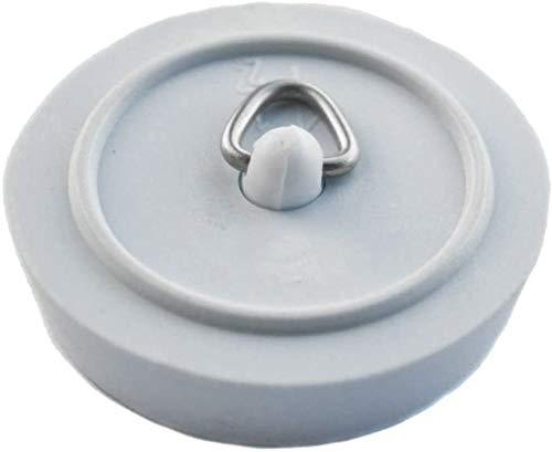 RKLTools.co.uk 2 x Replacement Rubber Bath Plug - White (1 3/4