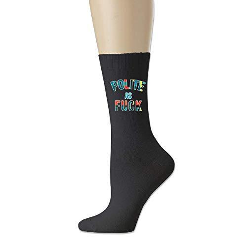 BEDKKJY Höflich wie Fick Herren atmungsaktive Baumwollsocken Crazy Crew Socks Dress Socks