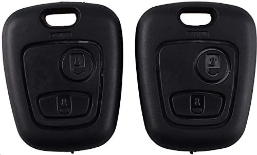 Heart Horse Clé à Distance FOB Compatible avec Peugeot 107 207 407 206 306 406 806 Citroen C1 C21 C3 C4 C5 2 Boutons (2)
