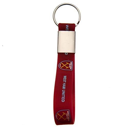 West Ham Football Club Officiële Siliconen Sleutelhanger Team Crest Badge