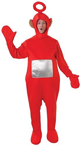 Fancy Me Teletubby-Kostüm - Offiziell Lizenzierte Teletubbies-Verkleidung Für Damen & Herren - Tinky-Winky, Po, Dipy, Laa-Laa (Rot, Grün, Lila, Gelb) - Einheitsgröße, Rot