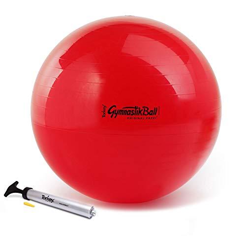 Ledragomma Pezzi Ball Standard 75 cm rot Gymnastikball Sitzball + Original Pezzi-Ball Pumpe