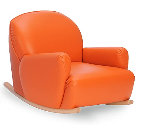 Bätz Holzspielwaren Rattan im Trend - Sillón infantil (piel sintética, 58 x 72 x 62 x 30 cm), color naranja