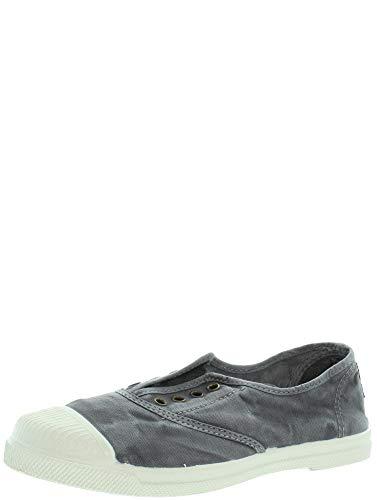 Natural World - Zapatillas de tela natural y caucho, ref. 470E Gris Size: 38 EU