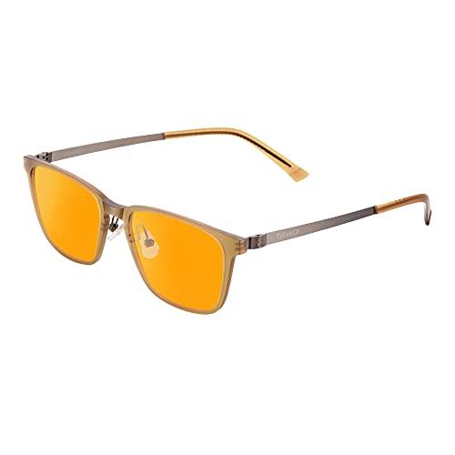 PRiSMA FRANKFURT PRO99 Blaulichtfilter-Brille FF709, Brille mit Blaufilter, Bildschirmbrille für Damen und Herren