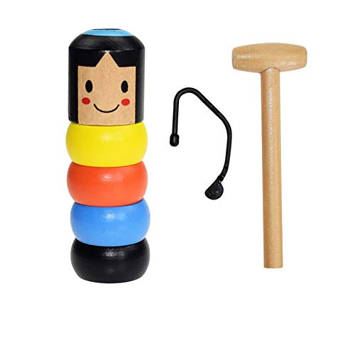 Immortal Daruma Little Wooden Man Magic Toy, 2019 Halloween Divertido Juguete Mágico de Madera Irrompible Tradicional Japonés para Tus Hijos (Estilo japones)