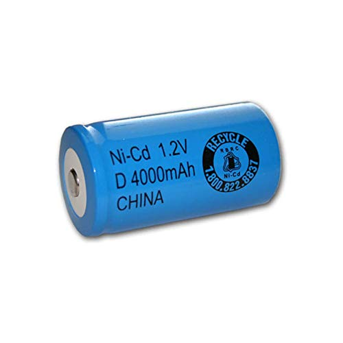 Exell 1.2V 4000mAh NiCD D Rechargeable Battery Button Top Cell