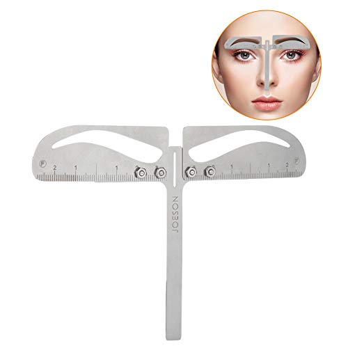 Eyebrow Positioning Ruler, Adjustable Three-Point Measure Makeup Symmetrical Tool Grooming Shaper Balance Caliper Extension Natural Eyebrow Ruler(Natural Eyebrow )