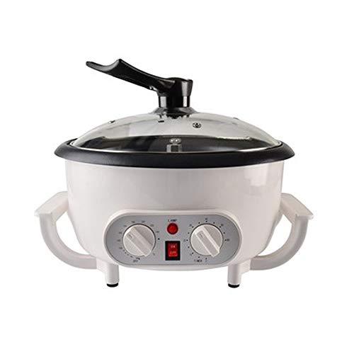 TOPQSC Automatischer Kaffeeröster, Röstmaschine für Kaffeebohnen zu Hause mit 0-60 Minuten Zeitsteuerung, Elektrischer Kaffeebohnenbäcker aus Edelstahl für Kaffeemais Popcorn Rohe Melonensamen