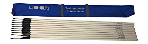 Uber Soccer Agility Training Poles with Flexi Base (White (with Blue Bag))