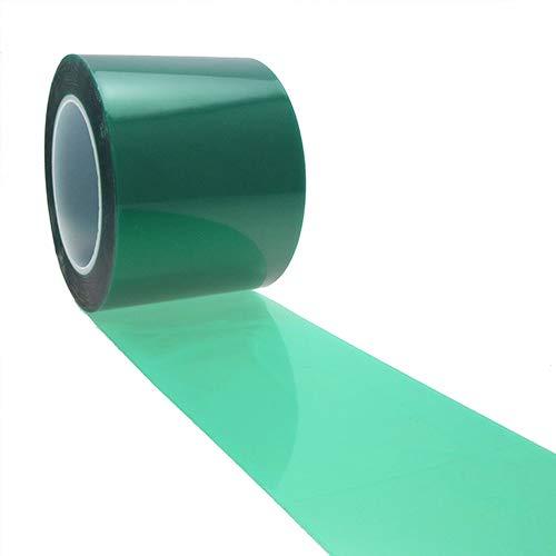 1 ruban de polyester vert 76,2 mm x 66 m, revêtement en poudre, ruban de masquage haute température, ruban de masquage vert, ruban de revêtement.