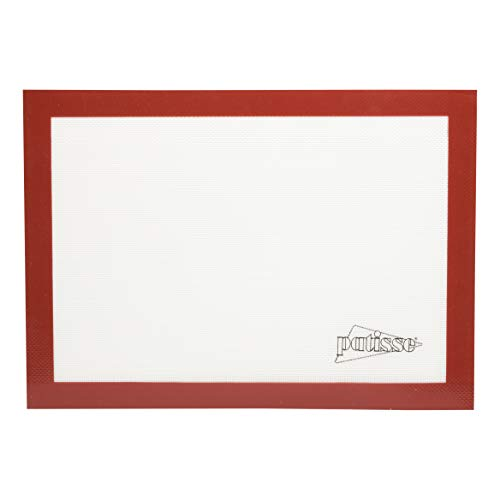 Patisse 1717 Tapis de Cuisson Silicone Rouge/Beige 42 x 30 cm
