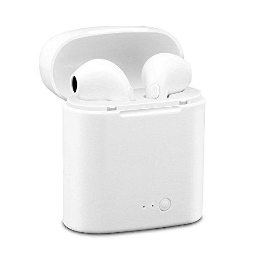 dizauL, Cuffie Wireless, Auricolari Bluetooth, Auricolari Stereo con 2 microfoni integrati e Custodia di Ricarica, compatibili con Smartphone e Tablet