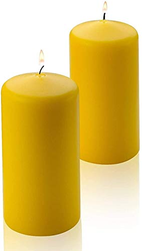 Citronella Pillar Candle - Set of 2 Citronella Candles - 6 inch Tall, 3 inch Thick - for Indoor/Outdoor Use