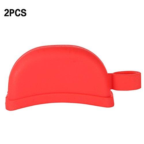 Topfgriffschutz, 2 Stück/Set, Silikon-Pfannengriff, hitzebeständig, schützt Finger vor Verbrennungen (zufällige Farbe) Free Size Zufällige Farbauswahl