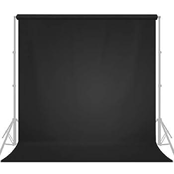 LimoStudio 10  x 20   W x H  Photo Video Studio Seamless Solid Dark Black Screen Muslin Backdrop Photo Studio Background AGG1601