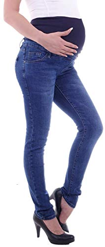 Damen Umstandsjeans Schwangerschaftsjeans Slim Schwangerschaft-s-Jeans Umstand-s-Hose Umstand-s-Hosen Röhre-n-Jeans Maternity Over-Size-Plus Big Gr große Größe-n dunkel-blau-e übergröße-n L 40