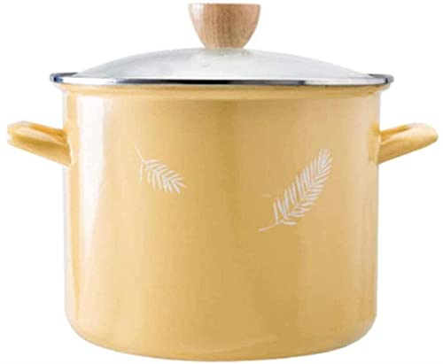 Olla para sopa de utensilios de cocina Olla de sopa poco profunda Olla de sopa de acero inoxidable con tapa de vidrio templado, olla de inducción, apto para horno, apto para todo tipo de encim