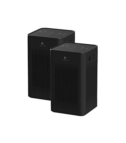 Medify MA-25 B2 Medical Grade Filtration H13 True HEPA for 500 Sq. Ft. Air Purifier | Dual Air Intake | Two '3-in-1' Filters | 99.9% Removal in a Modern Design (2-Pack, Black)