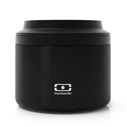 monbento - MB Element negro Onyx Fiambrera térmica - Fiambrera bento box térmica - sin BPA - segura y duradera