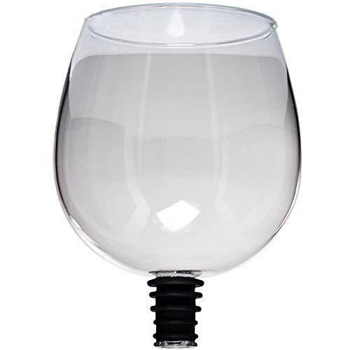 Copa de Cristal de Vino Tinto Creativa con Bebida de Sello de Silicona Directamente Desde la Botella de Cristal de Cristal Cocktail Taza 260ml Chenhuanbakeyji