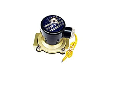 1 Inch Solenoid Valve 110v/115v/120v AC Brass Electric Air Water Gas Diesel Normally Closed NPT High Flow from JEM&JULES