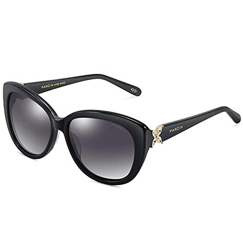 XINXD Gafas de Sol Polarizadas Mujer Gran Tamaño Mariposa Retro para Conducir Viajes, 100% Protección UV Moda Espejada