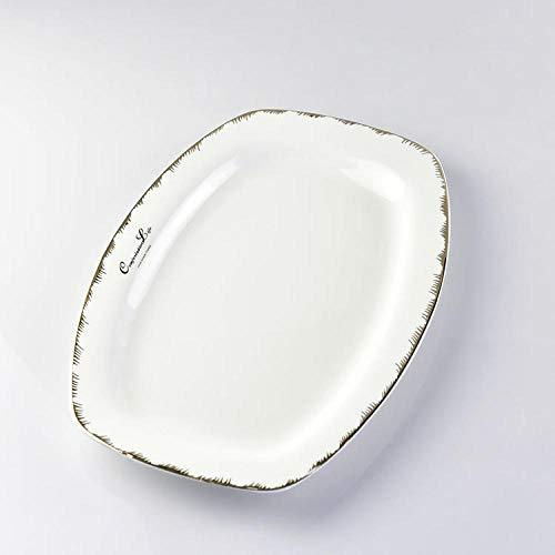 Platos De La Cenaplato De Pescado Harina De Porcelana Hueso Plato Casero 30Cm
