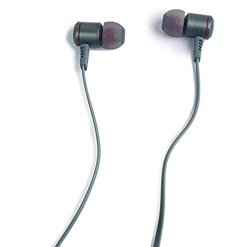 ADOFF AD220 in-Ear Extra Bass Earphones with Mic | Bass Earphones with Mic and Pouch(Grey)