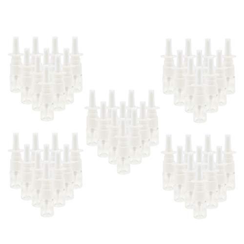freneci 50 Piezas Plástico Vacío Botellas de Spray Nasal Bomba Contenedor de Agua Transparente