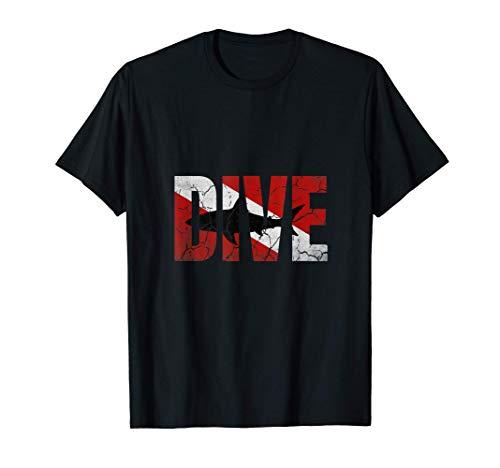Taucher Geschenk Haifisch für Tauchurlaub und Tauchschein T-Shirt