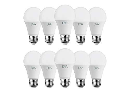 SET di 10 LAMPADINE LED DYA GOCCIA A60, Attacco E27 (LUCE NATURALE 4000K, 10W)