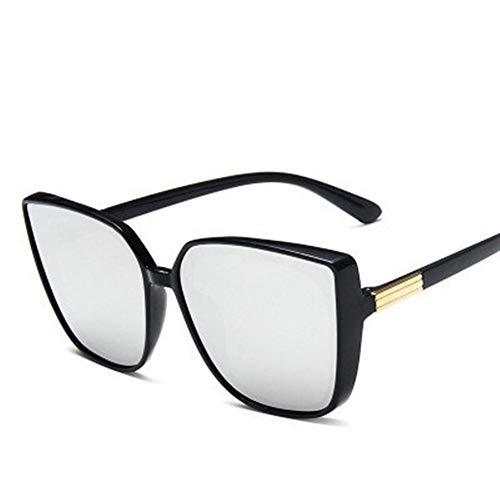 PPCLU gafas de sol Diseñador de ojo de gato gafas de sol de las mujeres de alta calidad gafas de sol retras de las mujeres vidrios cuadrados mujeres/hombres de lujo (Color : White)