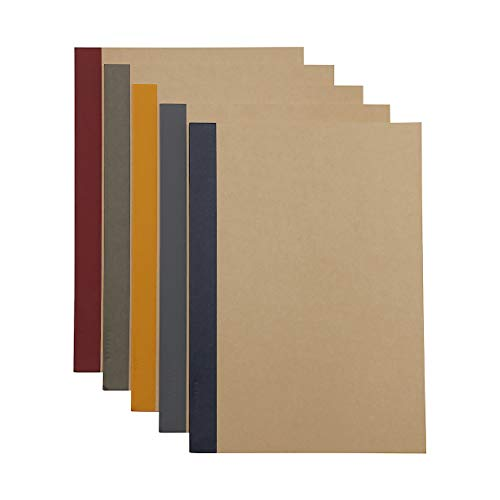 MUJI Notebook B5 6mm Rule 30sheets - Pack of 5books [5colors Binding]