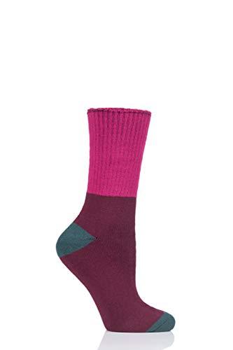 Thought Damen Gehhilfe Bambus Socken aus Bio-Baumwolle Packung mit 1 Heidelbeere 37-40