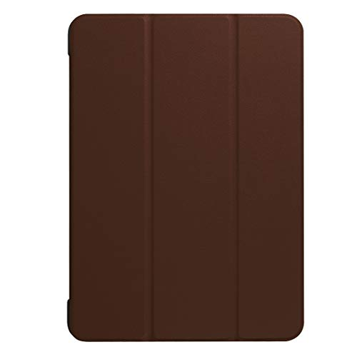 YIHUI Protective Tablet PC Case Cover For Galaxy Tab S3 9.7 inch T820 / T825 Custer Texture Horizontal Flip Leather Case with 3-folding Holder(Black) (Color : Brown)