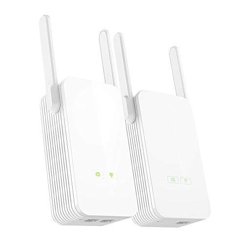 BESISOON Router de WiFi Adaptador de Red 1000Mbps Líneas eléctricas Adaptador Ethernet...