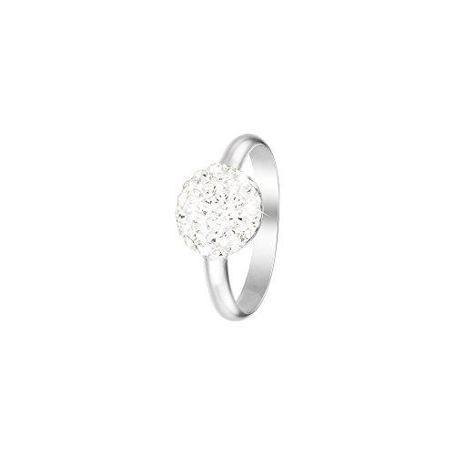 Stroili - Anello in argento 925 rodiato e cristalli per Donna - Millennials