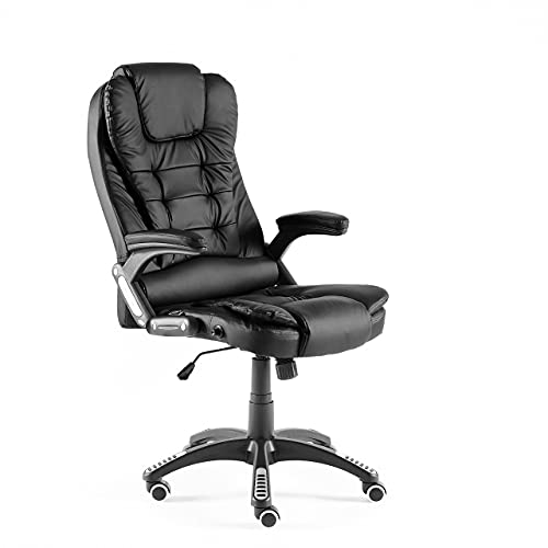 Neo® Executive PU Faux Leather Gaming Computer Desk Office Swivel Reclining Chair (Black)