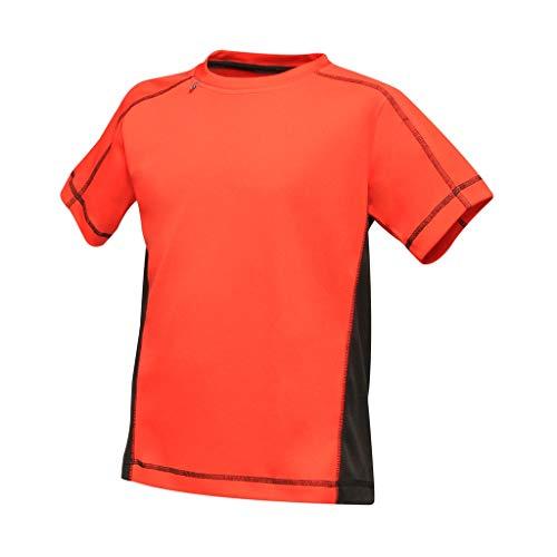 Regatta Activewar - Camiseta Beijing para niños (9-10 Años) (Rojo Clásico/Negro)